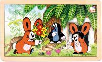 BINO Puzzle Krtek a zajíčci, 15 dílků