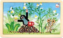 BINO Puzzle Krtek a heřmánek, 15 dílků