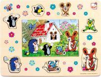 BINO Puzzle Krtek a přátelé, 13 dílků