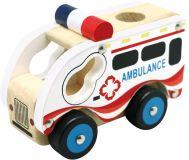 BINO Drevené auto ambulancia