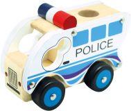 BINO Dřevěné auto policie
