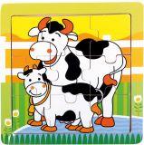 BINO Puzzle kravičky, 9 dílků