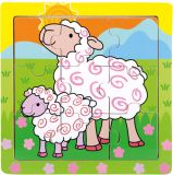 BINO Puzzle ovečky,  9 dílků