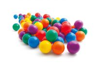 TEDDIES Míčky do hracích koutů 6,5 cm barevné, 100 ks
