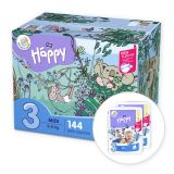 BELLA HAPPY Midi 3 Big TOY BOX (5-9 kg) 144 szt. – pieluchy jednorazowe