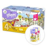 BELLA HAPPY Maxi 4 Plus Big TOY BOX (9-20 kg) 124 szt. – pieluchy jednorazowe