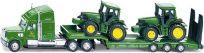 SIKU Farmer 1837 – Ciągnik niskopodwoziowy i traktory John Deere, skala 1:87