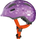 FIRST BIKE Helma ABUS SMILEY 2, Purple M (50-55cm)