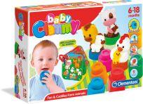 CLEMENTONI Clemmy baby – klocki z książeczką, zwierzęta gospodarskie