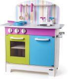 WOODY Detská kuchynka – Julia, prúžkovaná