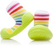 ATTIPAS Unisex topánočky Rainbow, veľ. S - zelená