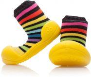 ATTIPAS Unisex botičky Rainbow, vel. S - žlutá