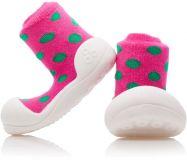 ATTIPAS Dievčenské topánočky Polka Dot, veľ. M - ružová