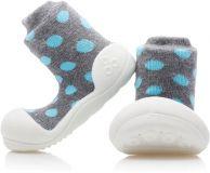 ATTIPAS Chlapčenské topánočky Polka Dot, veľ. XL - šedá