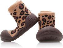 ATTIPAS Dievčenské topánočky Animal, veľ. L - hnedá