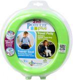 POTETTE PLUS 2w1 Nocnik podróżny/adapter na WC – limonkowa zieleń/ciemno niebieski