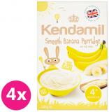 4x KENDAMIL Jemná banánová kaša (125 g)