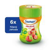 6x SUNAR Rozpustný nápoj jahodový - dóza (200 g)