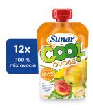 12x SUNAR Cool ovocie Hruška-Banán-Mango (120 g) - ovocný príkrm