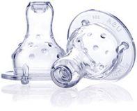 NUBY Cumlík na fľašu nevylievací silikónový (2 ks)