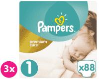 PAMPERS Premium Care 1 NEWBORN 264 ks (2-5 kg) MESAČNÁ ZÁSOBA - jednorazové plienky