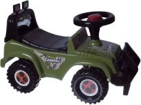 TEDDIES Odrážadlo auto Cross Country - vojenská khaki zelená