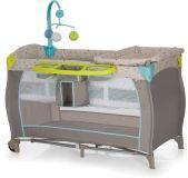 HAUCK Cestovná postieľka Babycenter - Multi Dots sand