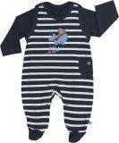 JACKY Set triko+dupačky OCEAN BOY, vel. 62, modrá/pruh