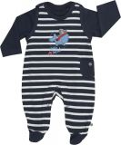 JACKY Set triko+dupačky OCEAN BOY, vel. 74, modrá/pruh