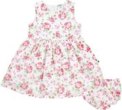 JACKY Elegantní šaty s kalhotkami SUMMER STYLES, vel. 68, růžová/potisk