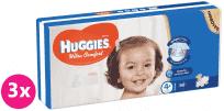 3x HUGGIES® Ultra Comfort 4+ (10-16 kg), 50 ks - jednorazové plienky