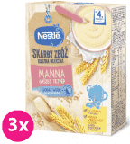 3x NESTLÉ Skarby Zbóż Kaszka mleczna manna (4m+) 250 g