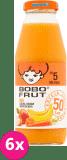 6x BOBO FRUT 100% sok jabłko, baNAN i marchewka 300ml