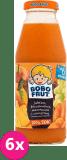 6x BOBO FRUT 100% sok jabłko, marchewka, brzoskwinia i winogrona 300ml