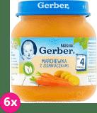 6x GERBER Marchewka z ziemniaczkami 125g