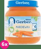 6x GERBER Marchewka 125g