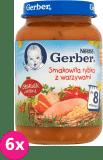 6x GERBER Smakowita rybka z warzywami 190g