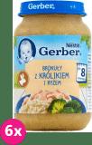 6x GERBER Brokuły z królkiem i ryżem 190g