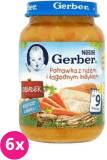6x GERBER Potrawka z ryżem i łagodnym indykiem  190g