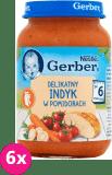6x GERBER Delikatny indyk w pomidorach 190g