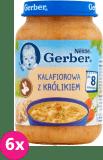 6x GERBER Kalafiorowa z królikiem 190g