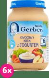 6x GERBER Owocowy krem z jogurtem 190g