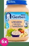 6x GERBER Winogrona i jabłuszka z twarożkiem 190g