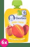 6x GERBER Deserek (90 g) Jabłko Mango 6m+