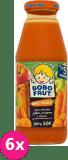 6x BOBO FRUT Marchewek (300 ml) – Sok marchewka, jabłko, winogrona i dynia