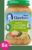 6x GERBER Risotto z kalafiorem i mozzarellą (190 g) – obiadek