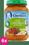 6x GERBER Leczo z kluseczkami i mozzarellą (190 g) – obiadek