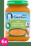 6x GERBER Krem marchwiowo-dyniowy z gryką (190 g) – zupka