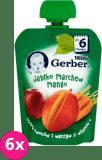 6x GERBER Deserek (90 g) Jabłko Marchew Mango 6m+