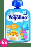 6x NESTLÉ Yogolino Deserek owocowo-mleczny mango banan (6m+) 90 g